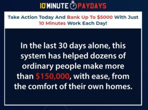 10 minute paydays income claim