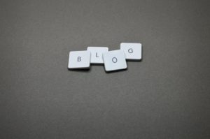 blog spelled out with scrabble pieces