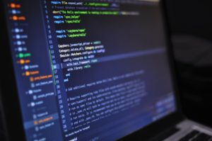 image of code on a monitor