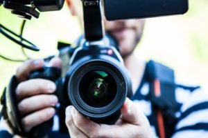 image of a video camera signifying making you tube videos