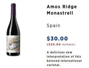 direct cellars Amos Ridge Monastrell