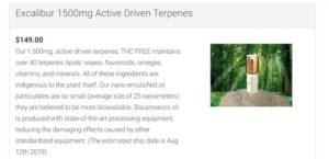 is bocannaco a scam -excalibur active driven terpenes