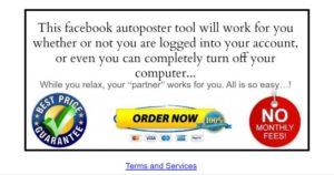 facebook autoposter screenshot