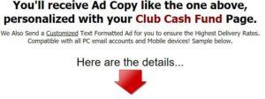 information from club cash fund salespage