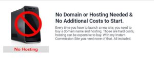instant commission site hosting