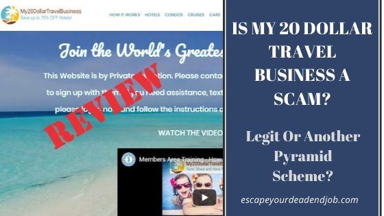 is my 20 dollar travel business a scam