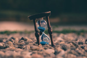 time with hourglass