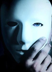 mask hiding a face
