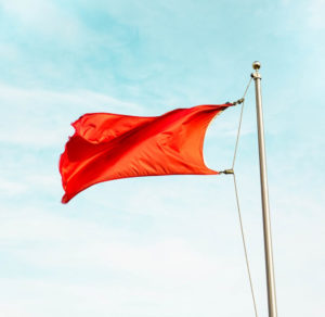 image of a red flag