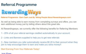 rewarding ways referral Program