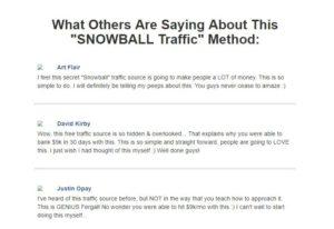 snowball traffic testimonials