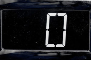 image of a clock at zero