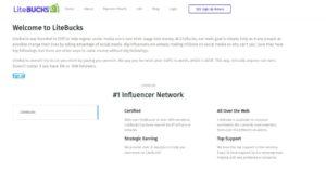 screenshot of litebucks About page