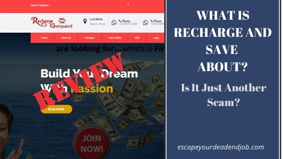 what is recharge and save about