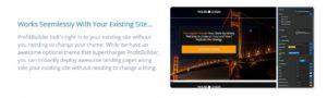 wp profit builder seamless integration